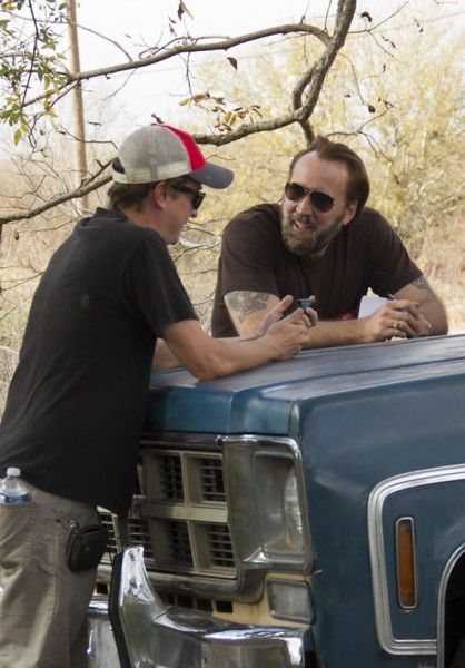 joe-david-gordon-green-nicolas-cage-set-photo