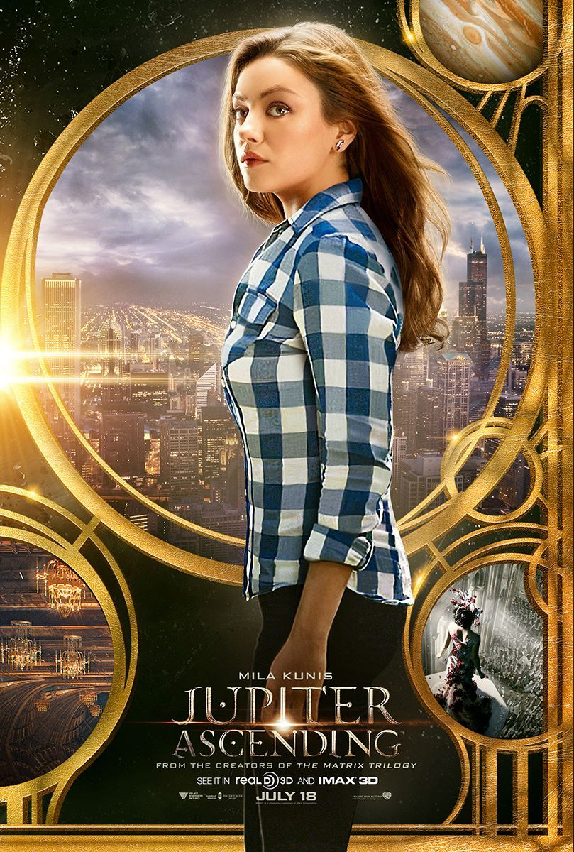 jupiter ascending posters jupiter ascending stars channing tatum and mila kunis collider. Black Bedroom Furniture Sets. Home Design Ideas