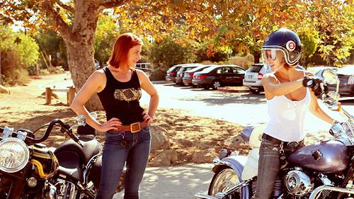 katee-sackhoff-tricia-helfer-motorcycle-ride