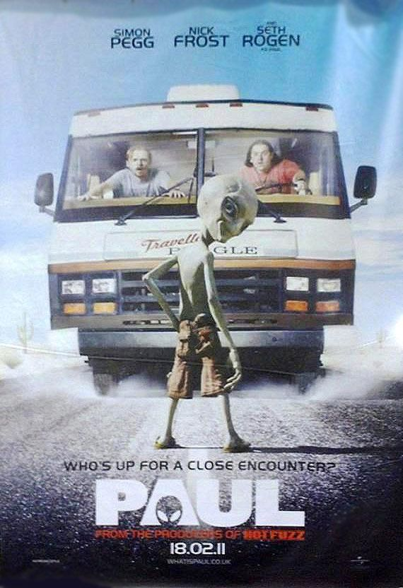 paul movie poster starring simon pegg and nick frost