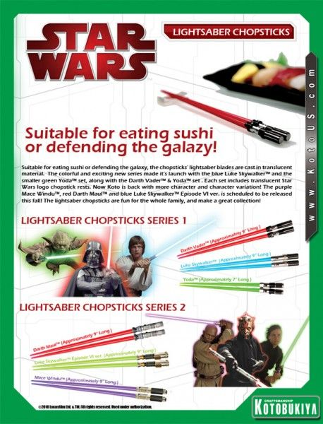 Kotobukiya Star Wars Lightsaber Chopsticks image 3
