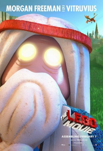 lego movie poster morgan freeman vitruvius