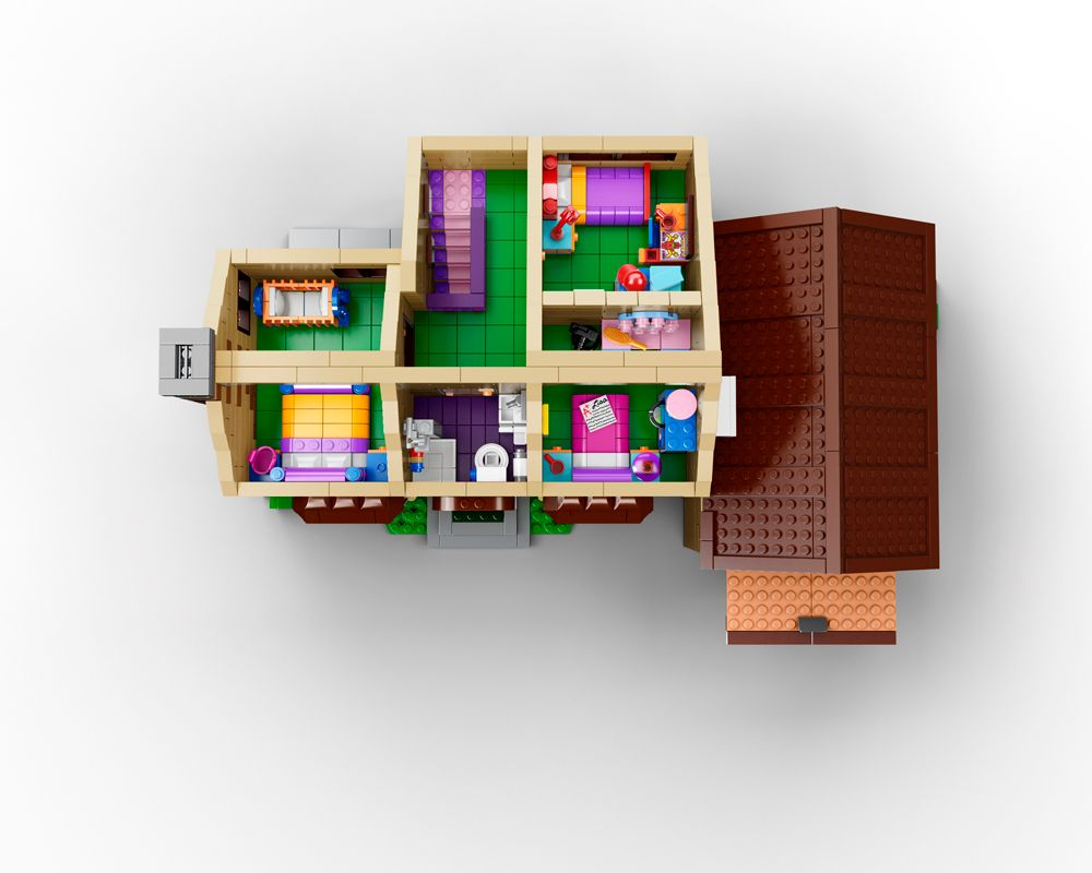 Lego The Simpsons House Images on Springfield House Floor Plan