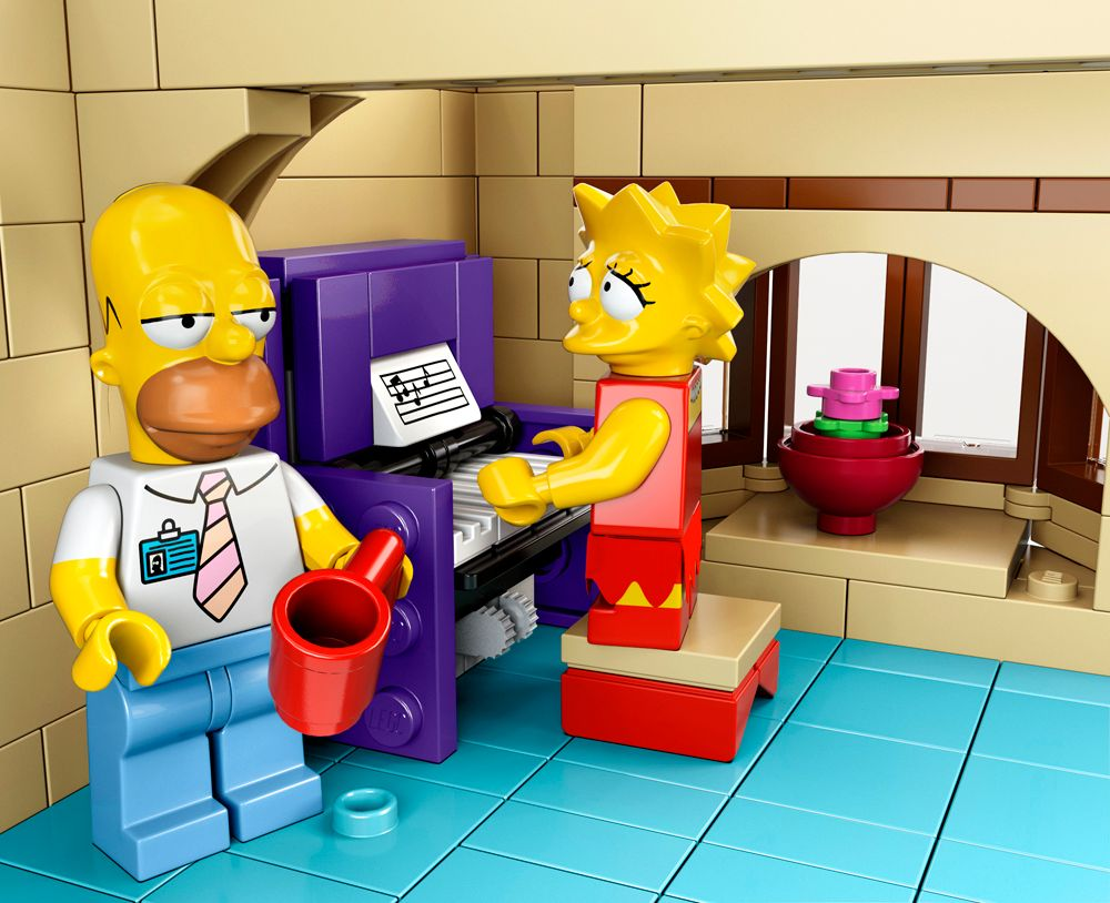 Lego Full House High Res Images Of Legos The Simpsons House Collider