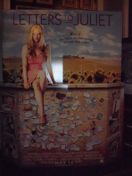 Letters to Juliet movie theater standee starring Amanda Seyfried 2