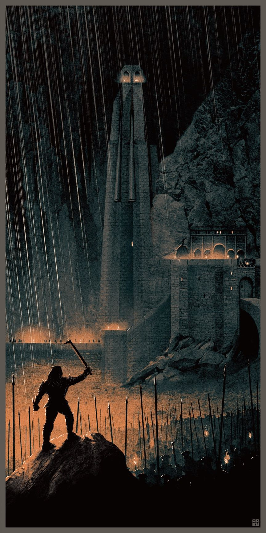 Lord Of The Rings Tarot The Hermit By Sceithailm On: Matt Ferguson's Lord Of The Rings Posters Are Amazing