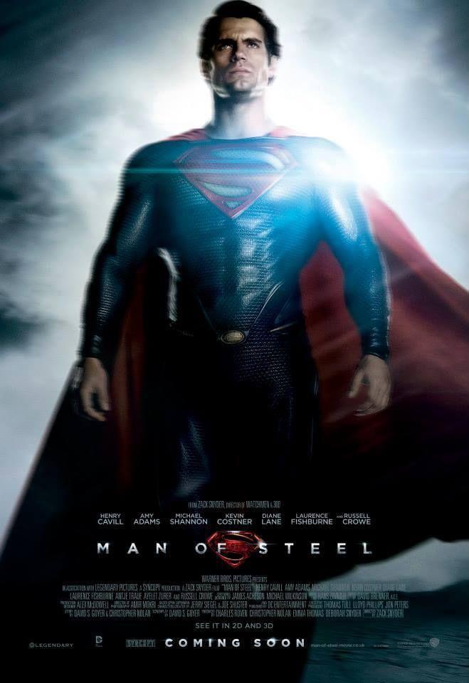 Man Of Steel Poster Henry Cavill