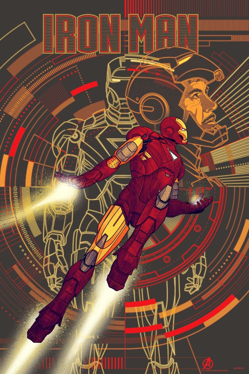 THE AVENGERS Mondo Posters for Thor, Iron Man, Captain America ...