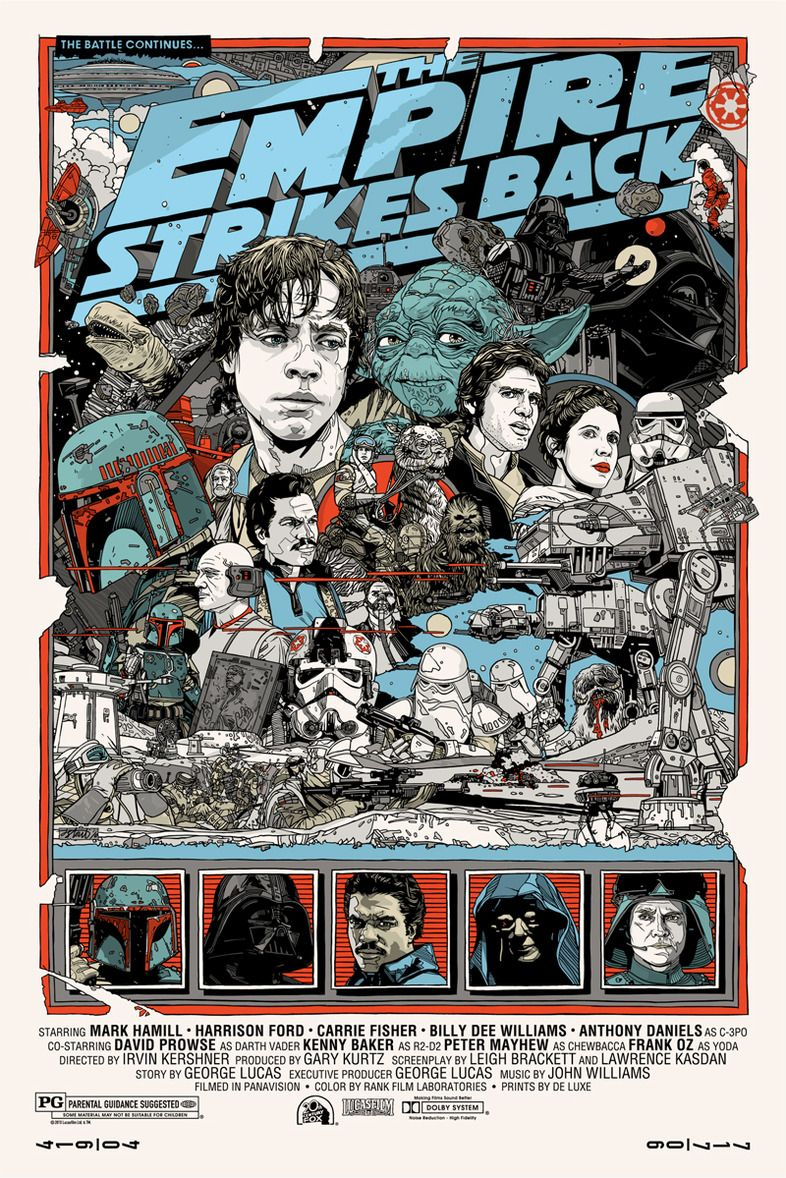 tyler stout delivers the final mondo star wars posters. Black Bedroom Furniture Sets. Home Design Ideas