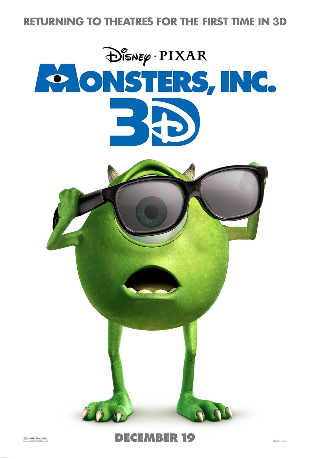 Our Review of MONSTERS UNIVERSITY and MONSTERS, INC. 3D Sneak Peek ...