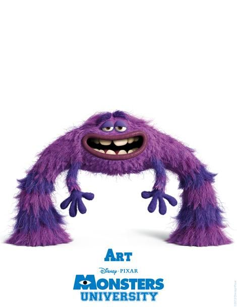 Pixar's MONSTERS UNIVERSITY Character Posters and ID Cards ...