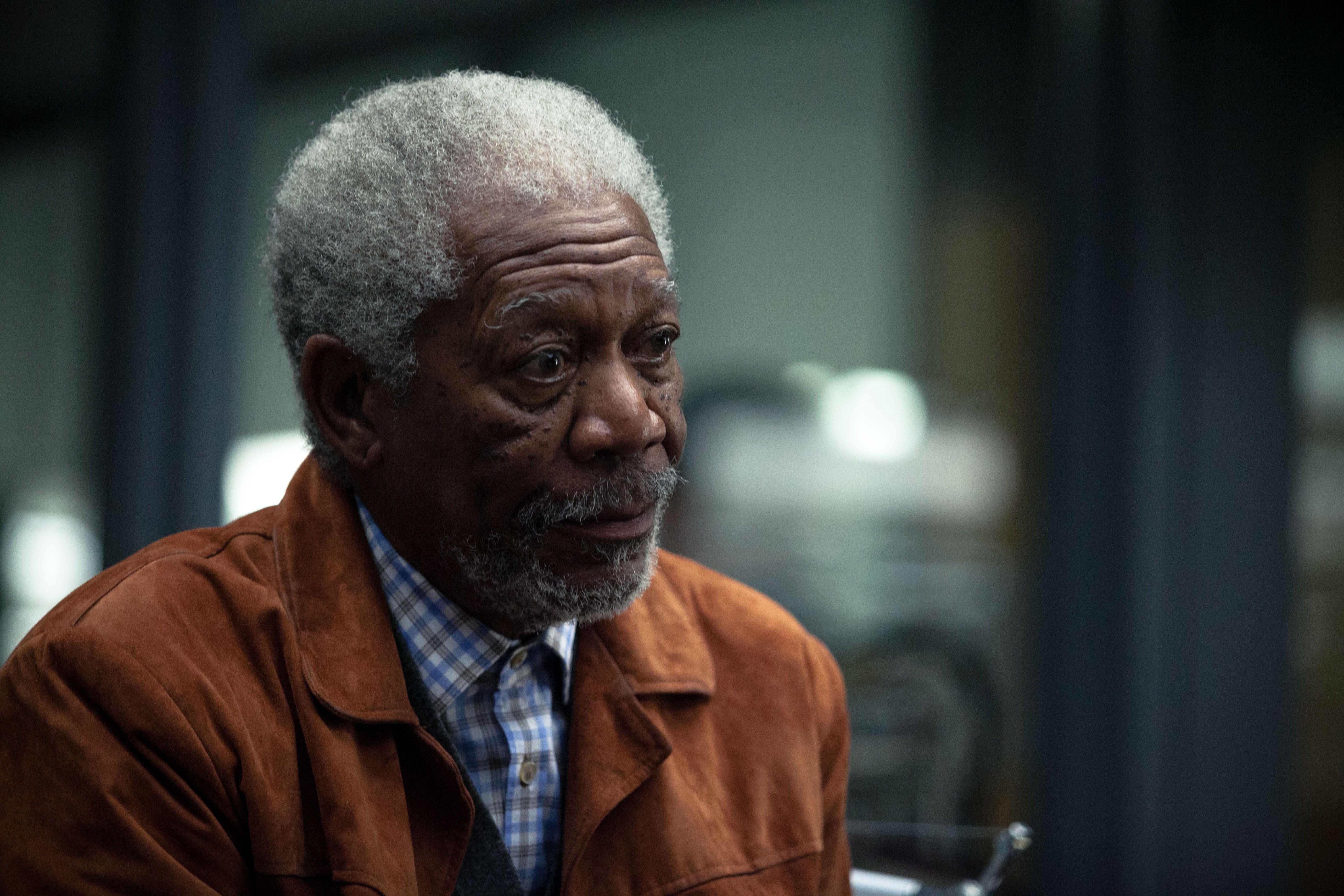 Morgan Freeman TRANSCENDENCE Interview | Collider