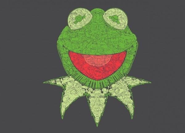 muppets-threadless-shirt-kermit-mosaic