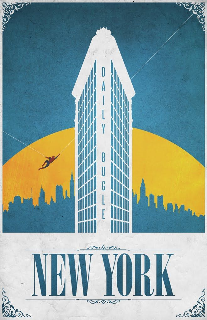 comic book travel posters by justin van genderen collider. Black Bedroom Furniture Sets. Home Design Ideas