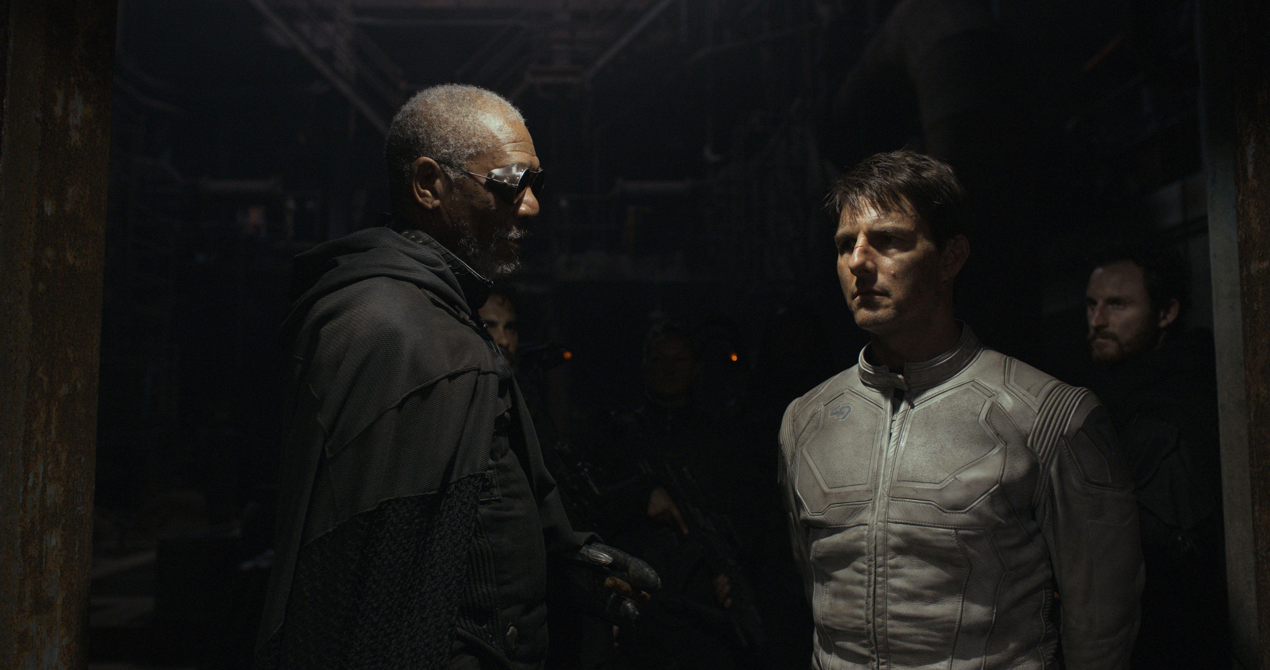 Morgan Freeman Oblivion Interview Collider