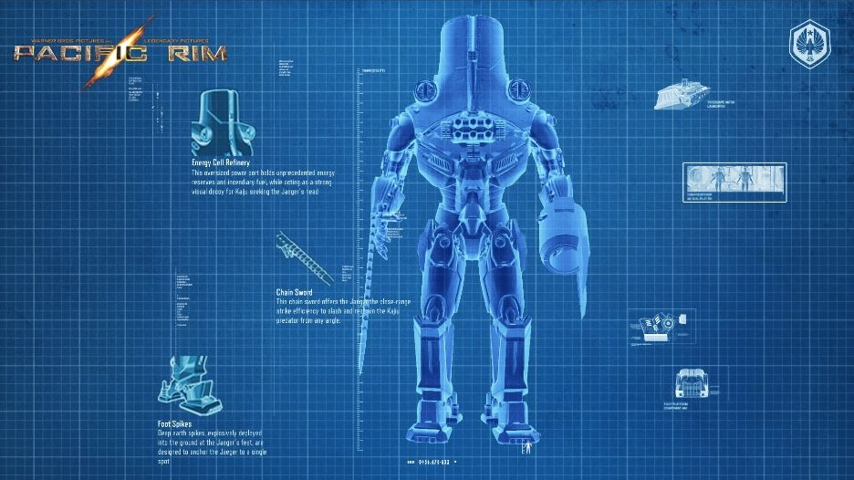 PACIFIC RIM Character Posters, Graphic Novel Images and ... Pacific Rim Blueprints