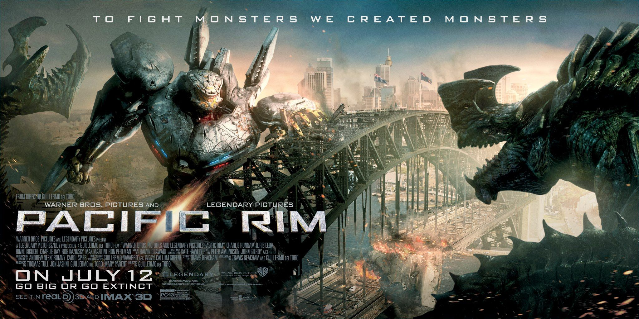 pacific rim poster banner pacific rim stars charlie hunnam and