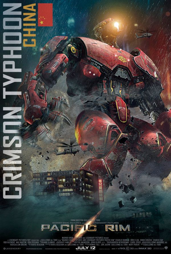 PACIFIC RIM Posters Feature All Five Jaegers | Collider Pacific Rim Cherno Alpha Pilots
