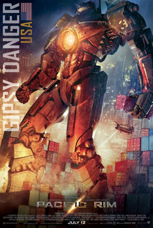 PACIFIC RIM Posters Feature All Five Jaegers | Collider Pacific Rim Gipsy Danger Poster