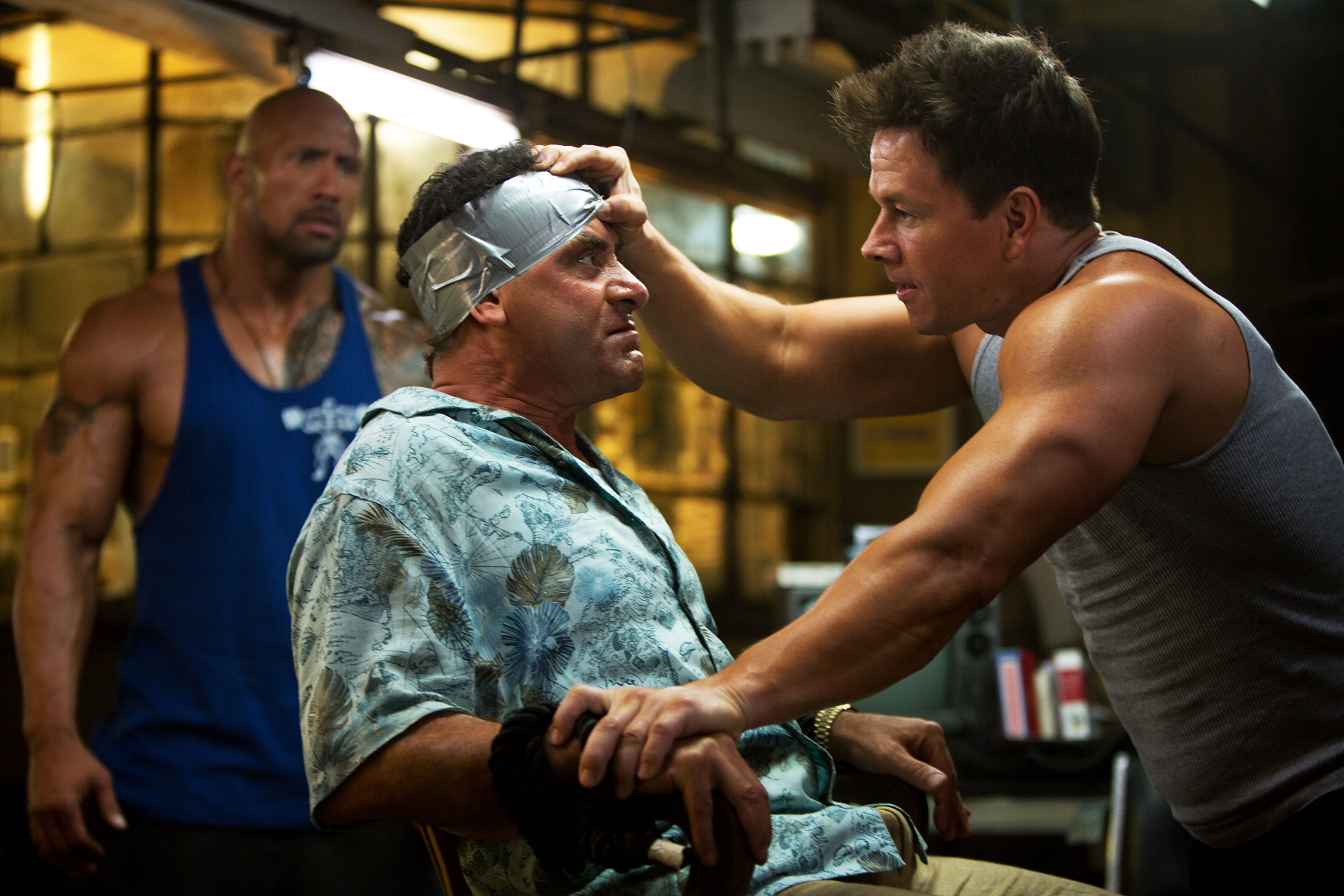 dwayne johnson and mark wahlberg talk pain and gain g i. Black Bedroom Furniture Sets. Home Design Ideas