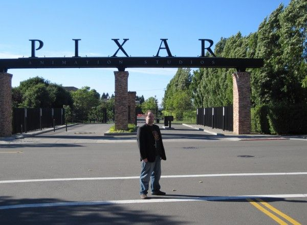 Me in front of Pixar's front gate