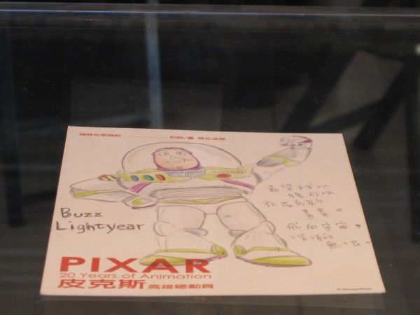 "A drawing of Buzz Lightyear from the ""Toy Story"" trilogy"