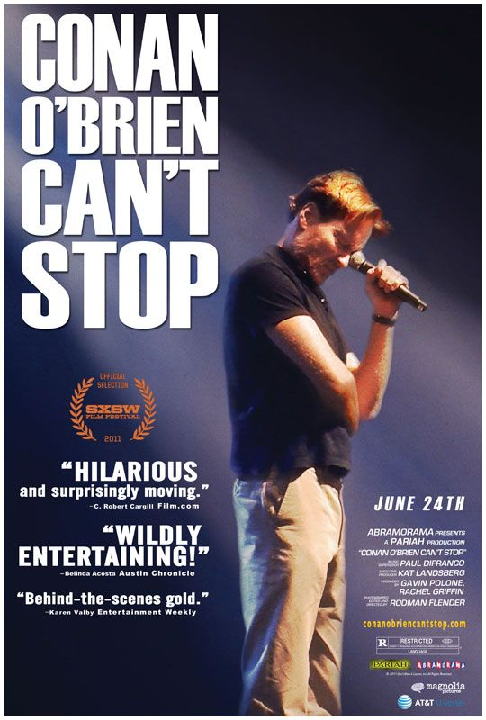 CONAN O'BRIEN CAN'T STOP poster