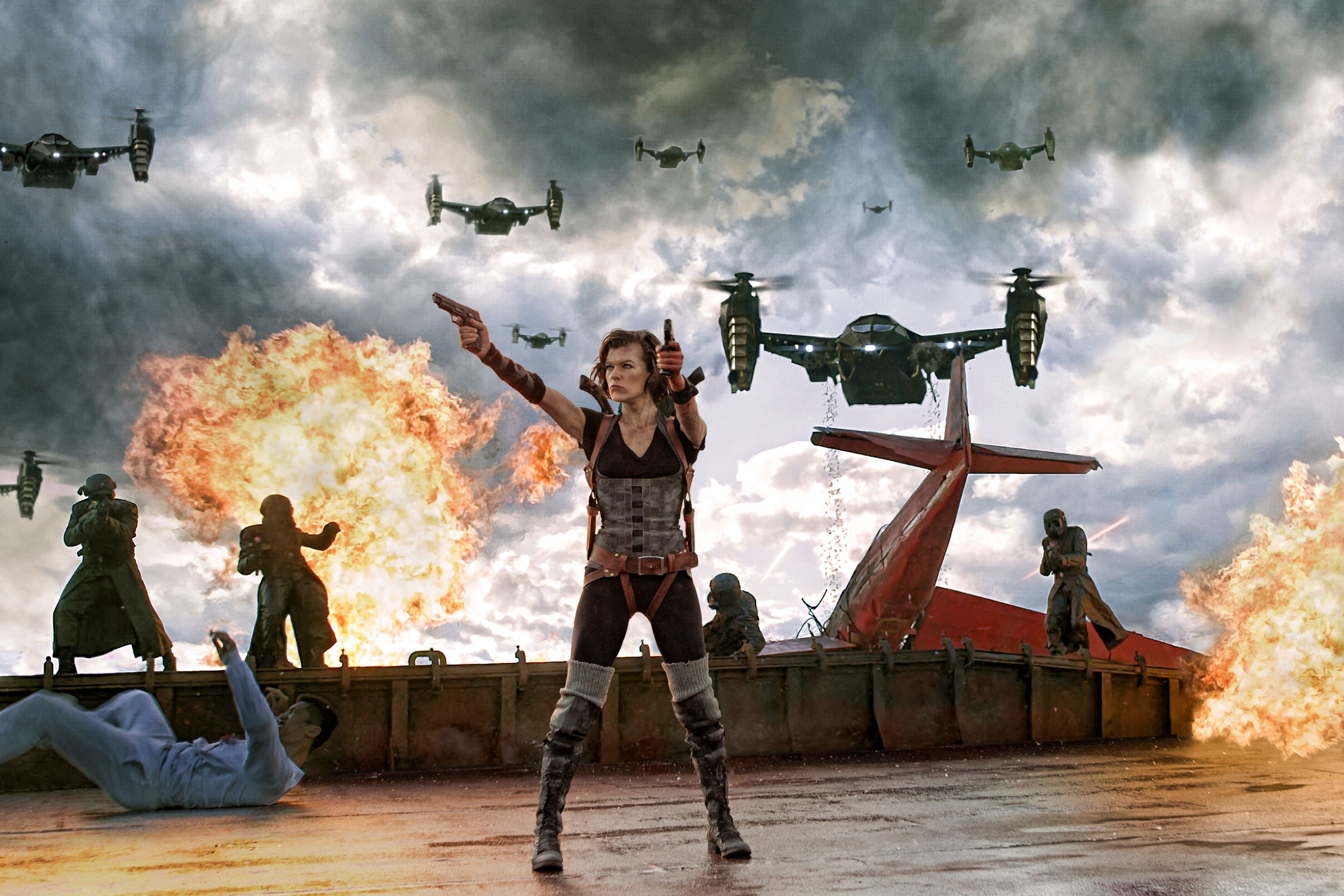 Resident evil retribution movie something