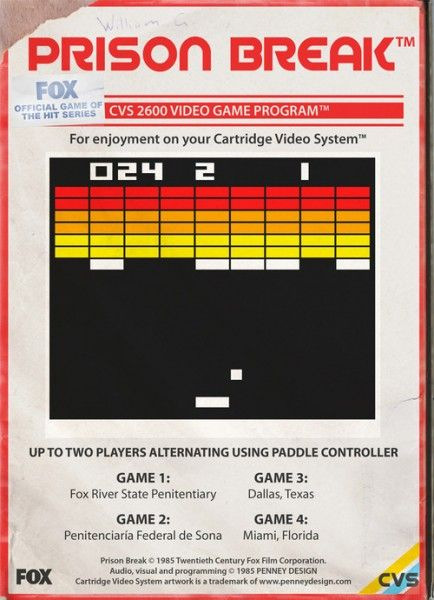 Retro Games With Modern Themes Prison Break