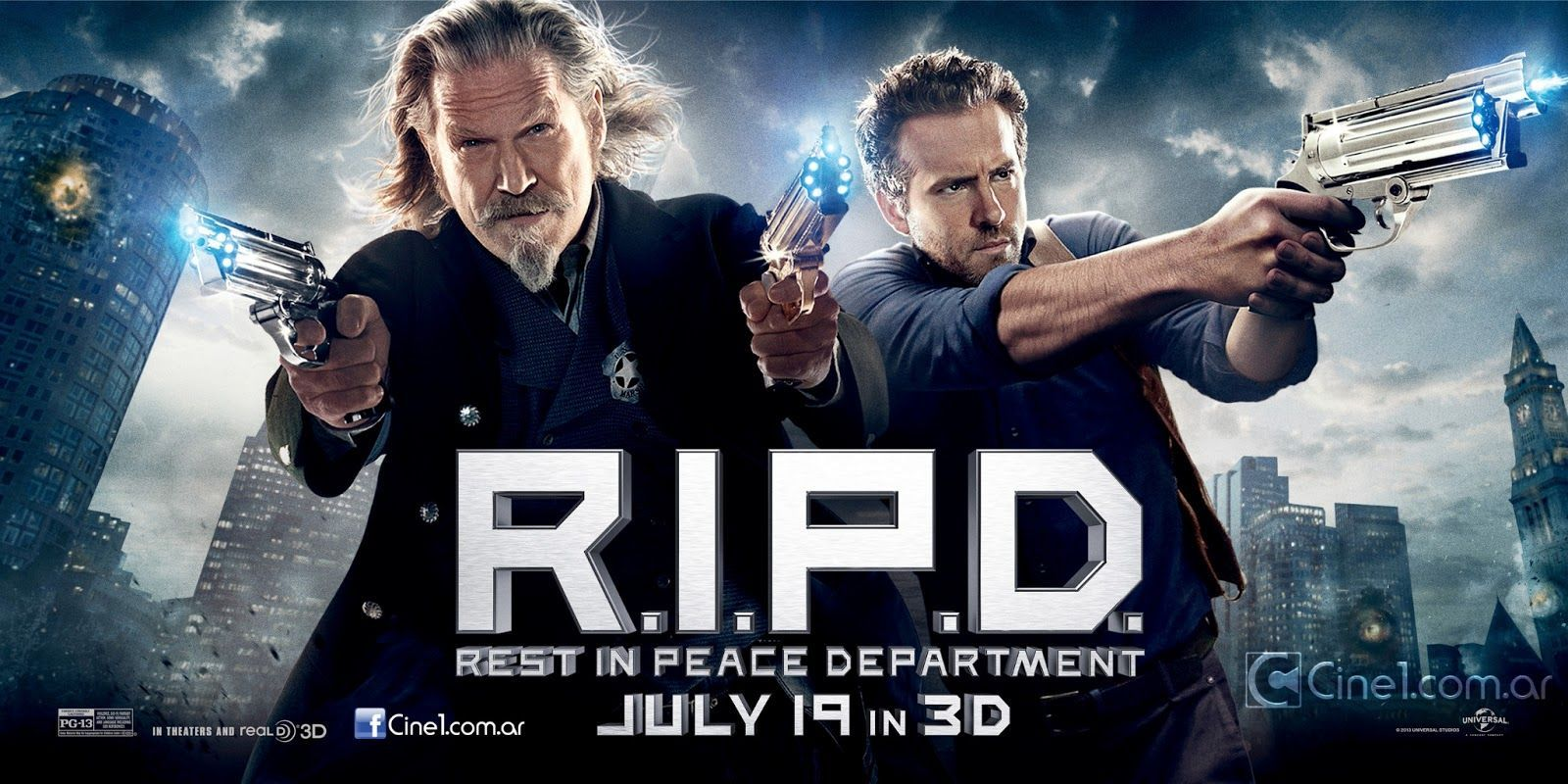 RIPD Banners. R.I.P.D. Stars Jeff Bridges, Ryan Reynolds ...