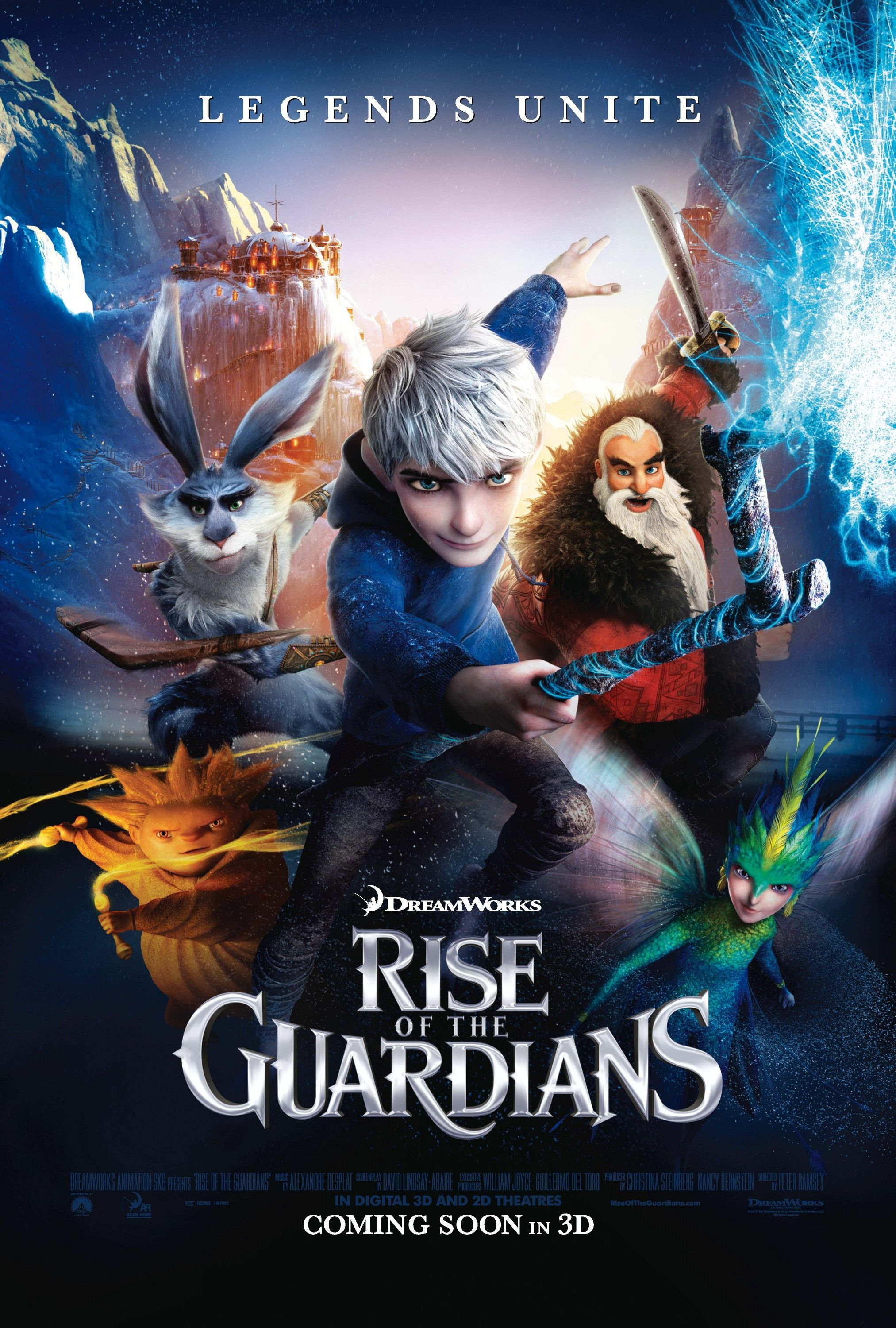 rise of the guardians review rise of the guardians stars chris pine
