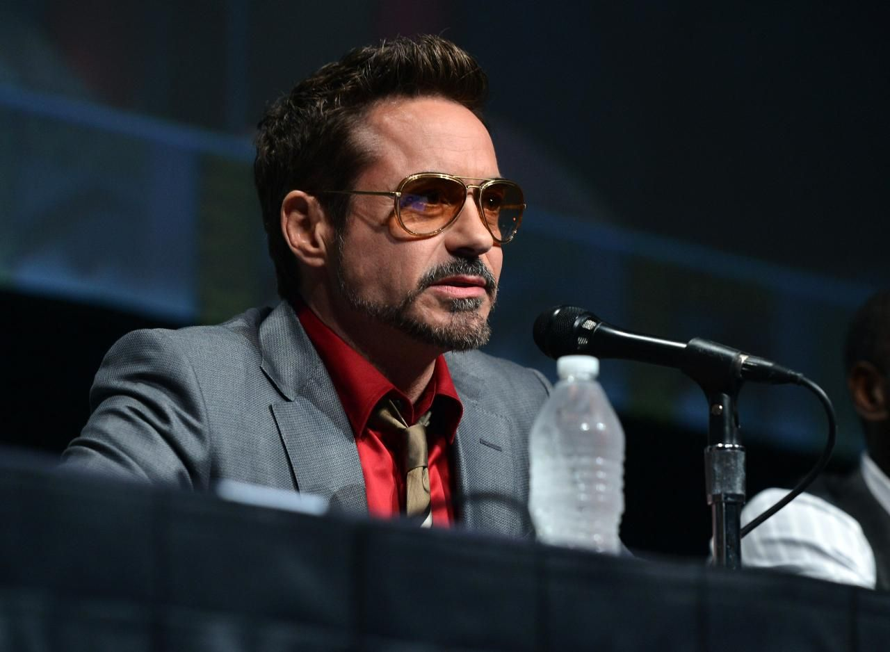 Comic Con Robert Downey Jr Don Cheadle Shane Black And Kevin