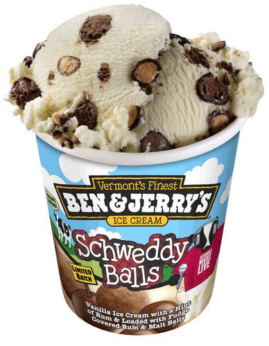 Schweddy Balls ice cream.
