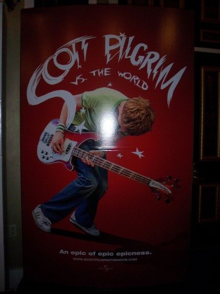 Scott Pilgrim vs The World movie poster movie theater standee