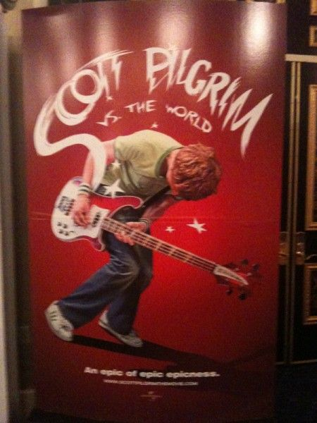 Scott Pilgrim vs. The World movie theater standee