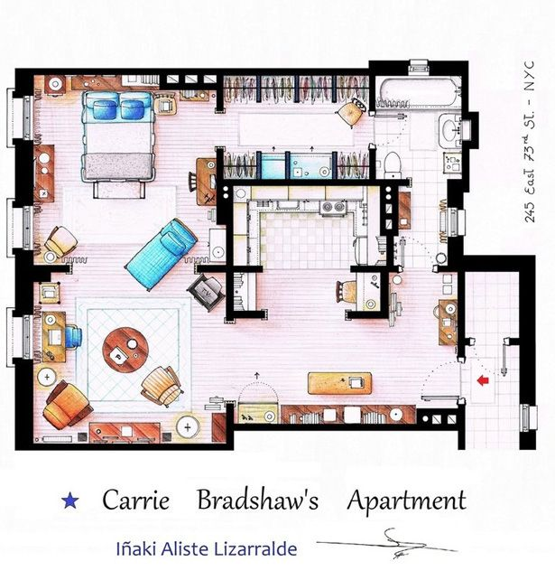 Check Out Floor Plans of TV Homes from BATMAN THE FLINTSTONES – City House Floor Plans