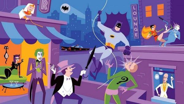 shag delegation of evildoers batman print