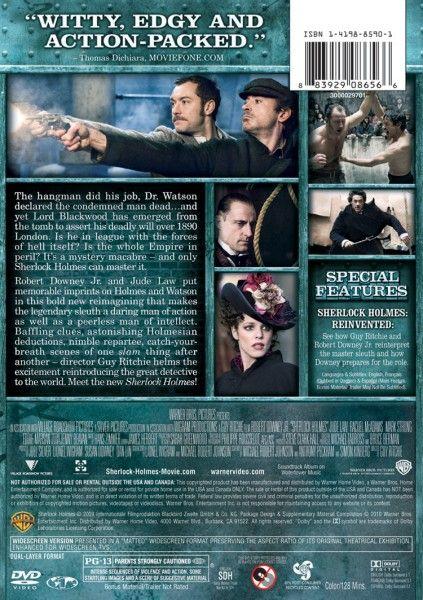Sherlock Holmes DVD image back cover art