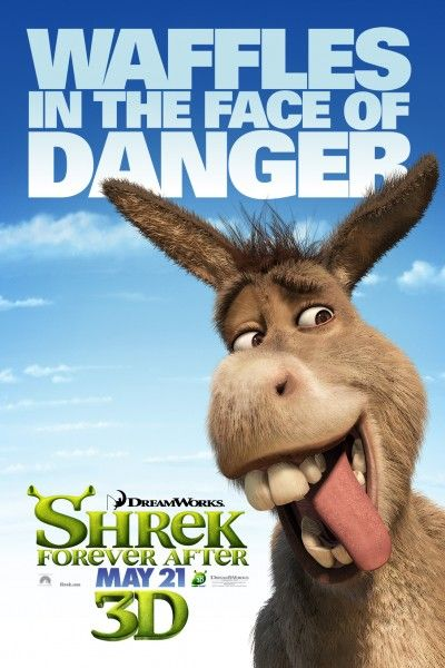 Shrek Forever After Character movie poster donkey