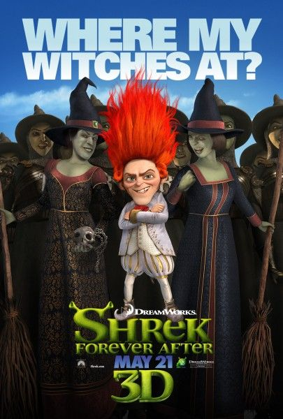 Shrek Forever After Character movie poster