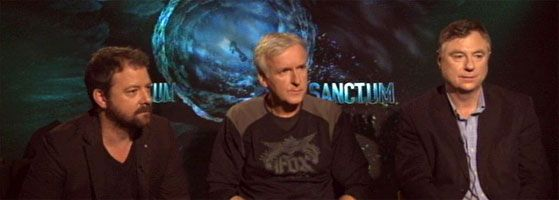 James Cameron, Director Alister Grierson, Andrew Wight Interview SANCTUM slice