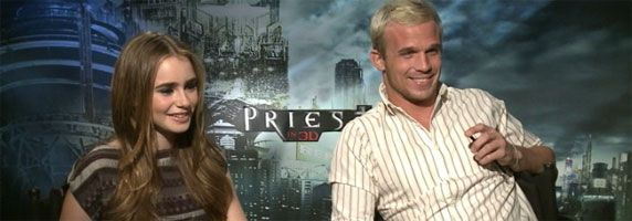 Lily Collins and Cam Gigandet Interview PRIEST slice