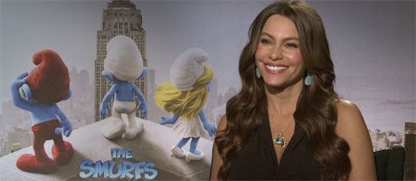 Sofia Vergara SMURFS, MODERN FAMILY interview slice