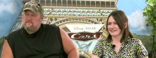 Emily Mortimer and Larry the Cable Guy Interview CARS 2 slice
