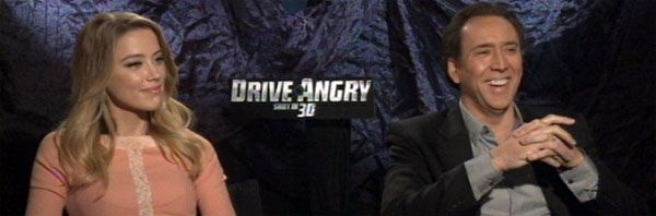Nicolas Cage and Amber Heard Video Interview DRIVE ANGRY 3D slice
