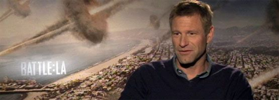 Aaron Eckhart Interview BATTLE: LOS ANGELES slice