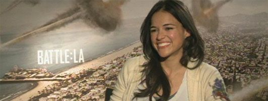 Michelle Rodriguez Interview BATTLE: LOS ANGELES slice