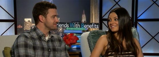 Exclusive: Justin Timberlake and Mila Kunis Talk FRIENDS WITH BENEFITS, TED and IN TIME slice