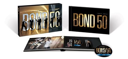 Bond 50 The Complete 22 Film Collection Blu-ray slice