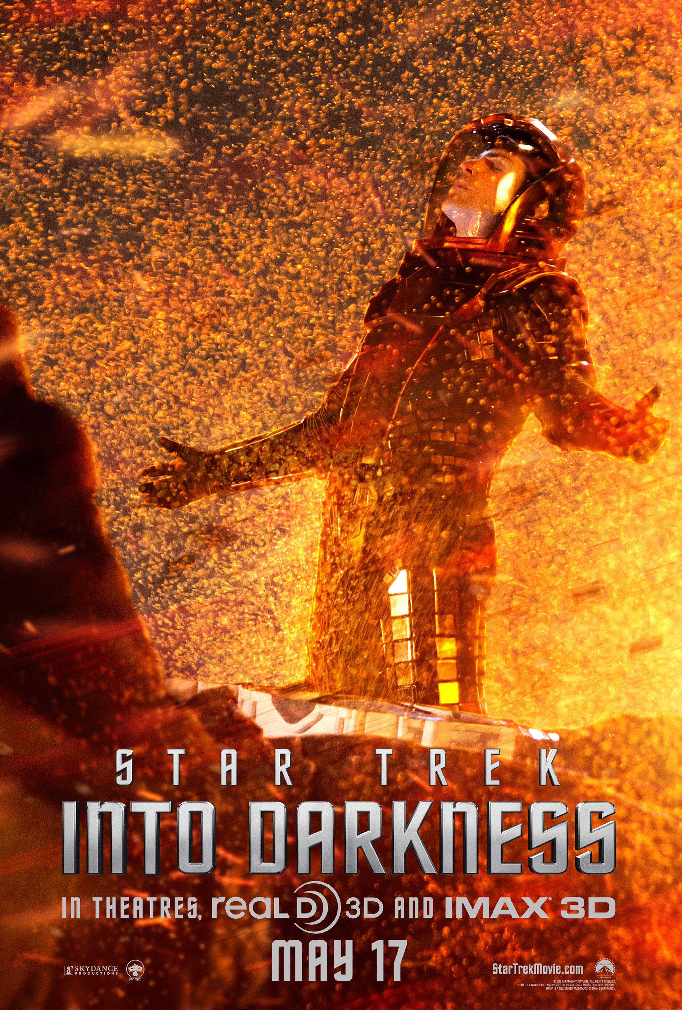 star trek into darkness sneak peek and spock poster